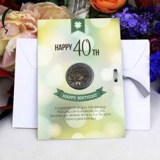 40th Birthday Lucky Coin Card