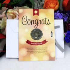 Congratulations Lucky Coin Card