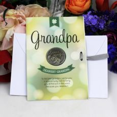 Grandpa Lucky Coin Card