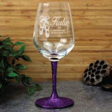 Dance Coach Engraved Personalised Wine Glass