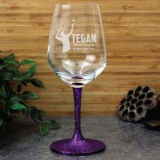 Tennis Coach Engraved Personalised Wine Glass