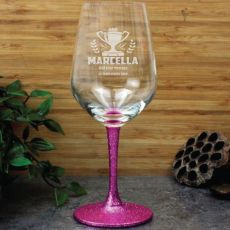 Coach Engraved Personalised Wine Glass