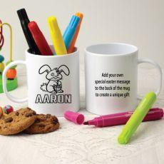 Personalised Easter Colour Kids Mug - Bunny