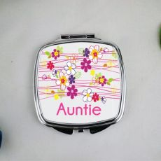 Aunty Compact Mirror Gift - Garland Flowers