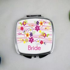 Bride Compact Mirror Gift Garland Flowers