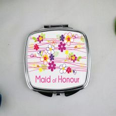 Maid Of Honour Compact Mirror Gift Garland Flowers