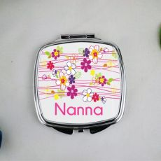 Nanna Compact Mirror Gift - Garland Flowers