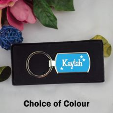 Personalised Keyring - Any Name - Colour