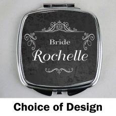Bride Personalised Compact Mirror Assorted Designs