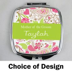 Mother of the Groom Personalised Compact Mirror Assorted Designs