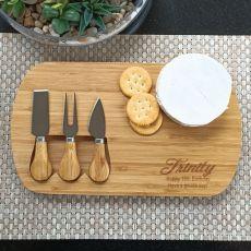 18th Birthday Oval Bamboo Cheese Board -
