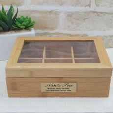 Nana  Bamboo Tea Box 6 Section Personalised Gift