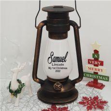 1st Christmas LED Lantern - Antique Gold