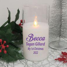 My 1st Christmas LED Glass Jar Candle