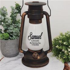 Naming Day LED Lantern Decoration - Antique Gold