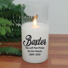 Personalised Pet Memorial LED Glass Jar Candle