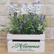 Lavender Flower Box with Personlised Nana Inscription