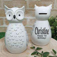 Birthday Ceramic Money Box Otis Owl
