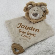 Personalised Lion Baby Comforter
