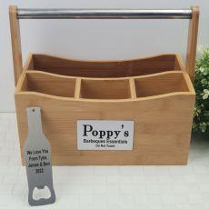 Pop Bamboo BBQ Caddy Organiser & Bottle Opener