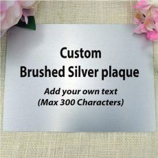 "Personalised Metal 5"" x 7"" Plaque - Any Text"