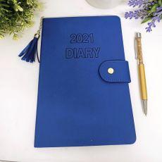 2021 Diary A5 WTV Blue Tassle with Pen