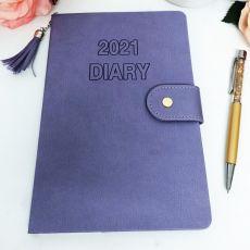 2021 Diary A5 WTV - Purple Tassle Gold Pen