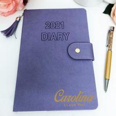 Personalised 2021 Diary A5 WTV - Iris Tassle