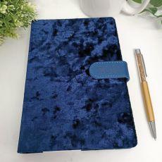 2021 Diary A5 DTP - Blue Flock Gold Pen