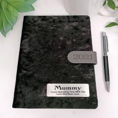 Personalised 2021 Mum Diary A5 DTP - Black