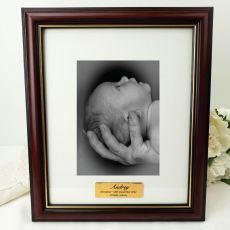 Christening Classic Wood Photo Frame 5x7 Personalised Message