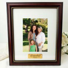 Grandma Classic Wood Photo Frame 5x7 Personalised Message
