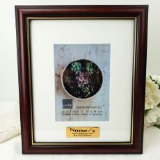 Graduation Classic Wood Photo Frame 5x7 Personalised Message