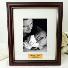 Naming Day Classic Wood Photo Frame 5x7 Personalised Message