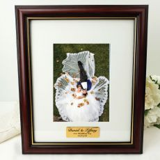 Wedding Classic Wood Photo Frame 5x7 Personalised Message