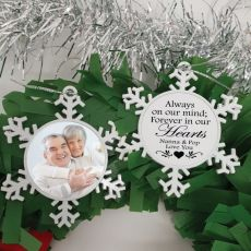 Memorial Christmas Snowflake Ornament - Our Hearts