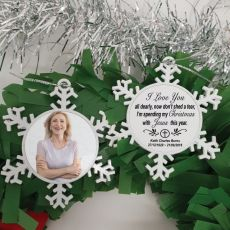 Memorial Christmas Snowflake Ornament - With Jesus