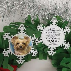 Pet Memorial Christmas Snowflake Ornament - Paws