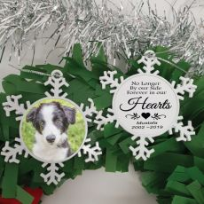 Pet Memorial Christmas Snowflake Ornament - My SIde