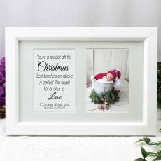 1st Christmas Photo Frame Typography Print 4x6 White