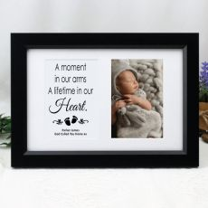 Baby Memorial Photo Frame Typography Print 4x6 Black