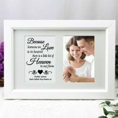 Baby Memorial Photo Frame Typography Print 4x6 White