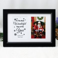 Christmas Photo Frame Typography Print 4x6 Black
