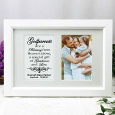 Godparent Photo Frame Typography Print 4x6 White