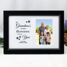 Grandma Photo Frame Typography Print 4x6 Black