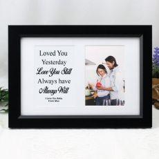 Love Anniversary Valentines Photo Frame Typography Print 4x6 Black