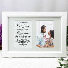 Love Anniversary Valentines Photo Frame Typography Print 4x6 White