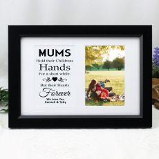 Mum Photo Frame Typography Print 4x6 Black