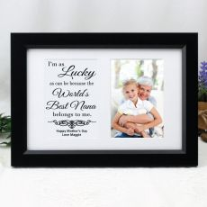 Nana Photo Frame Typography Print 4x6 Black