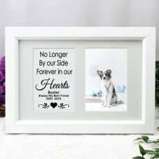 Pet Memorial Photo Frame Typography Print 4x6 White